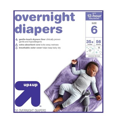 Overnight Diapers Size 6 - 56ct - Up&Up™