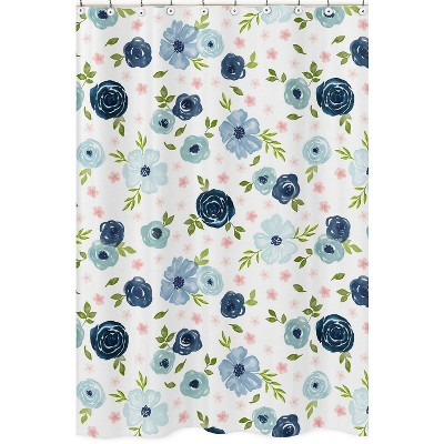 Floral Shower Curtain Blue - Sweet Jojo Designs