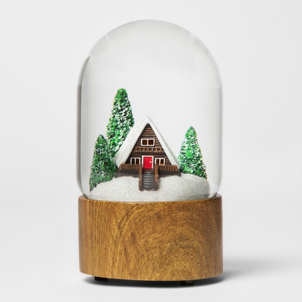 Water Globe Log Cabin - Threshold, Multi-Colored