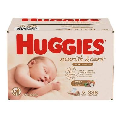 Huggies Nourish & Care Fragrance Free Baby Wipes - 336ct