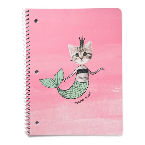 Spiral Notebook 1 Subject Wide Ruled Meowmaid - Gartner Studios - image 1 of 4