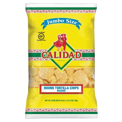 Calidad Round Tortilla Chips - 28oz