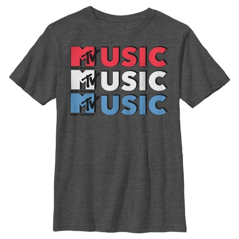 Boys' Music TV Short Sleeve T-Shirts - Charcoal Heather - image 1 of 1