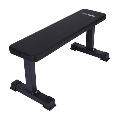 HolaHatha Steel Frame 600 Pounds Capacity Foam Padded Flat Weight Fitness Equipment Home Gym Freeweight Barbell Bench for Strength Training