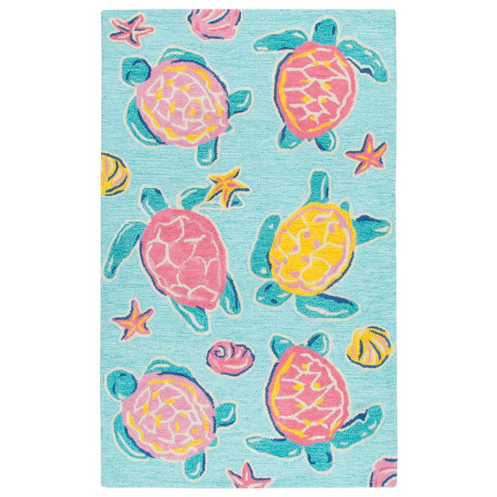 "Image of ""2'6""""X4' Tufted Turtle Accent Rug Blue - Rizzy Home"""