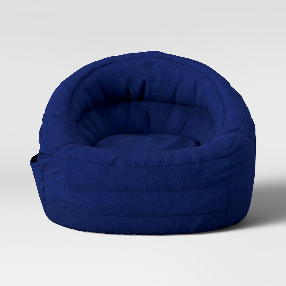 Cocoon Bean Bag Chair with Pocket Navy (Blue) - Pillowfort