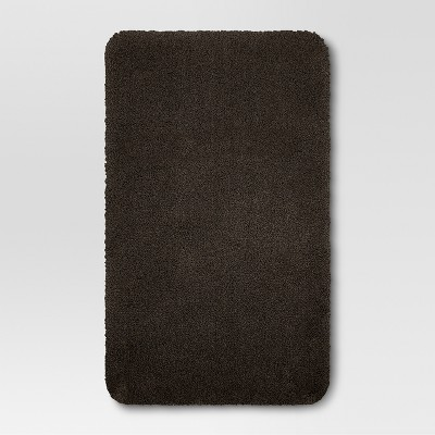 34 x20  Performance Nylon Bath Rug Dark Brown - Threshold™
