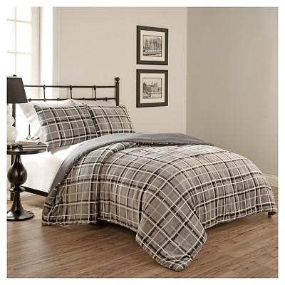 Gray Casimir Plaid Comforter Set 3 Piece (Full/Queen)- BeautyRest®
