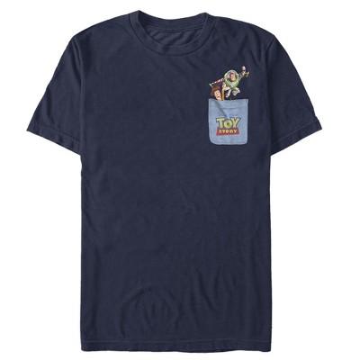 Men's Toy Story Buzz & Woody Pocket Print T-Shirt
