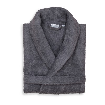 Terry Cloth Solid Bathrobe Gray - Linum Home Textiles