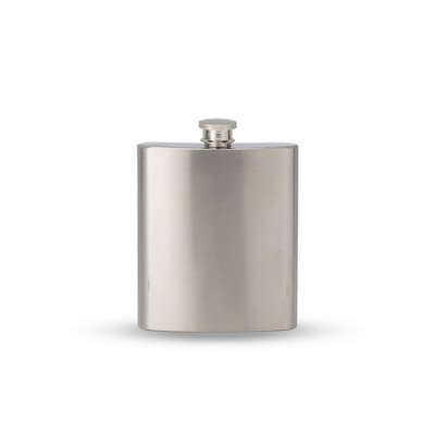 Assembly Brands 7oz Stainless Steel Square Flask