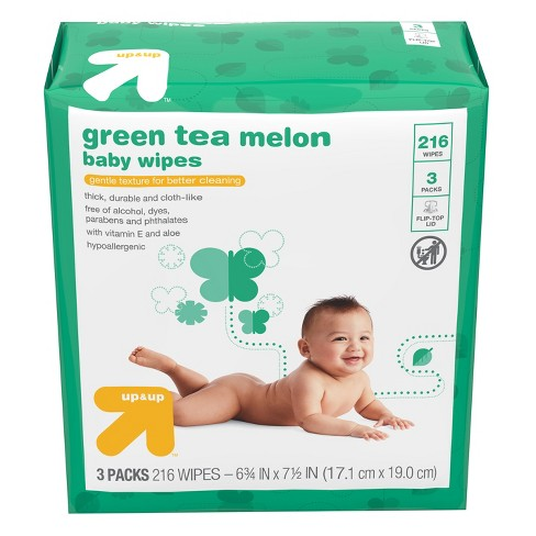 Baby Wipes Green Tea Melon - 216ct - Up&Up™ - image 1 of 4