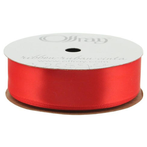 "Offray® Single Faced Satin Ribbon - 7/8"" x 21ft - Red - image 1 of 1"