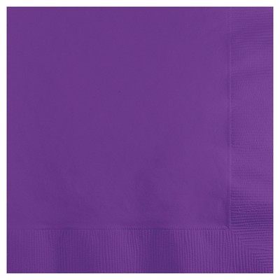 50ct Amethyst Purple Cocktail Beverage Napkins