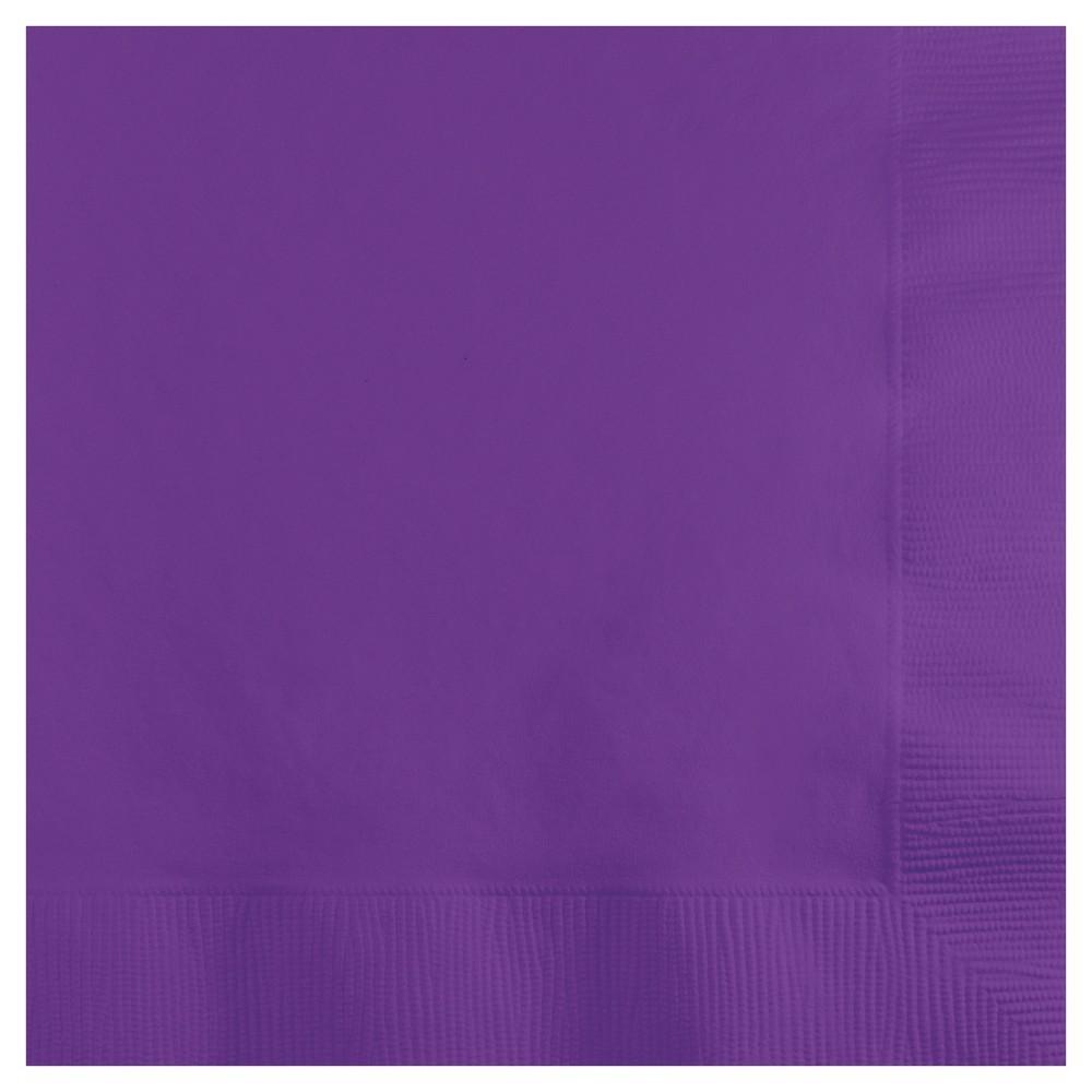 Image of 50ct Amethyst Purple Cocktail Beverage Napkins