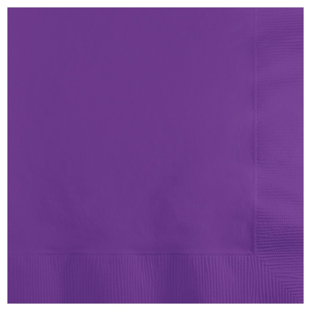 Image of 50ct Amethyst Purple Cocktail Beverage Napkins