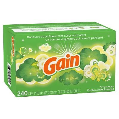 Gain Original Dryer Sheets - 240ct