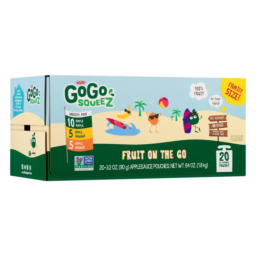 GoGo squeeZ Applesauce on the Go Variety Pack 20-Count Now $8.43