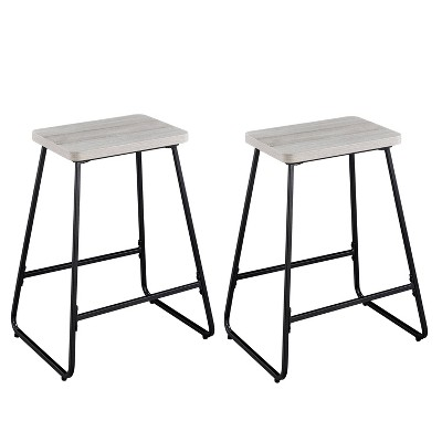 """24"""" Set of 2 Carson Counter Height Barstool Driftwood - Steve Silver Co."""