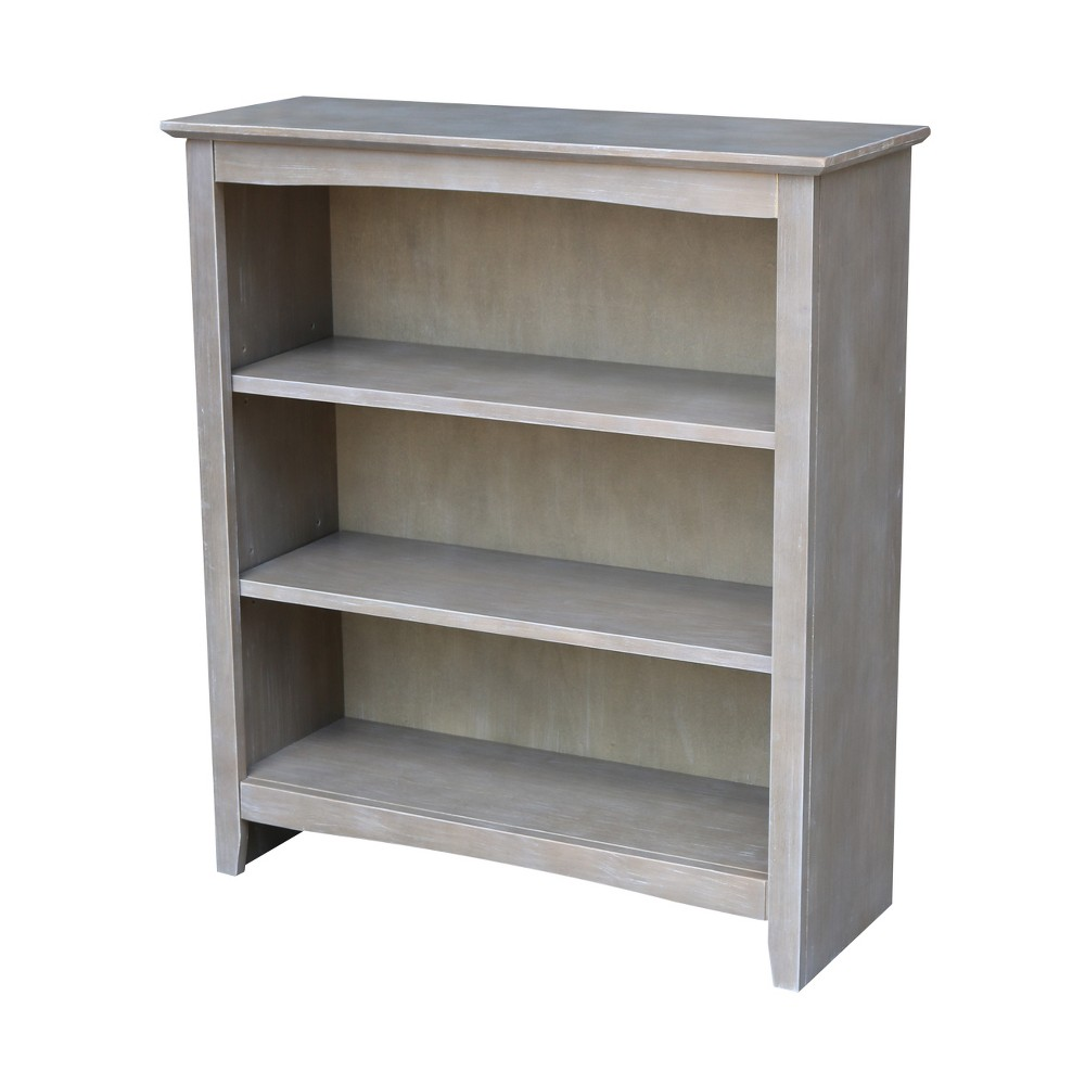 Shaker 36 Bookcase - Washed Gray Taupe - International Concepts
