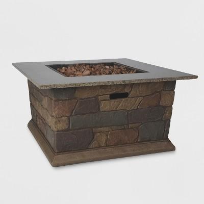 Greystone 18  Square Stone Fireplace - Brown - Bond
