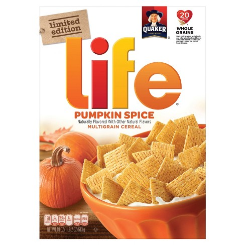 Life Pumpkin Spice Breakfast Cereal - 18oz - Quaker - image 1 of 1