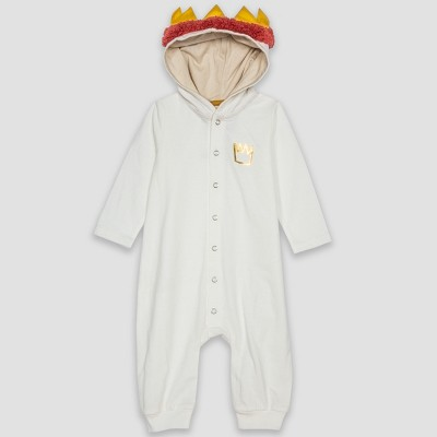 Baby Where the Wild Things Are Max Long Sleeve Hooded Bodysuit - White Newborn