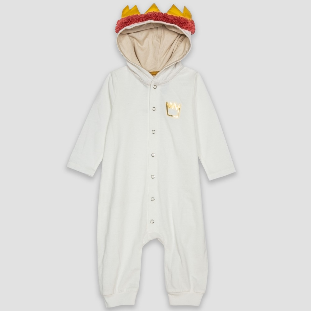 Baby Where the Wild Things Are Max Long Sleeve Hooded Bodysuit - White 3-6M, Infant Unisex