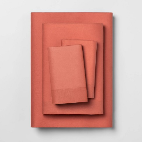 Solid Easy Care Percale Cotton Sheet Set - Opalhouse™ - image 1 of 1