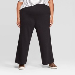 Women's Plus Size Wide Leg Knit Pants - Ava & Viv™