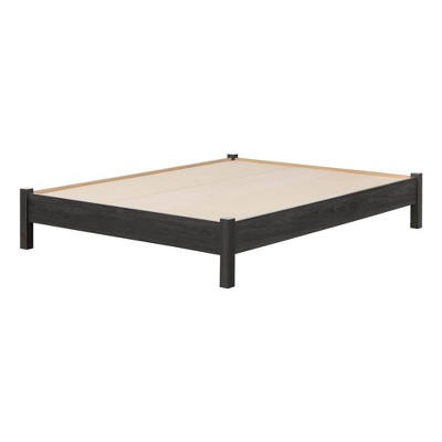 Full Step One Essential Platform Bed Gray Oak - South Shore