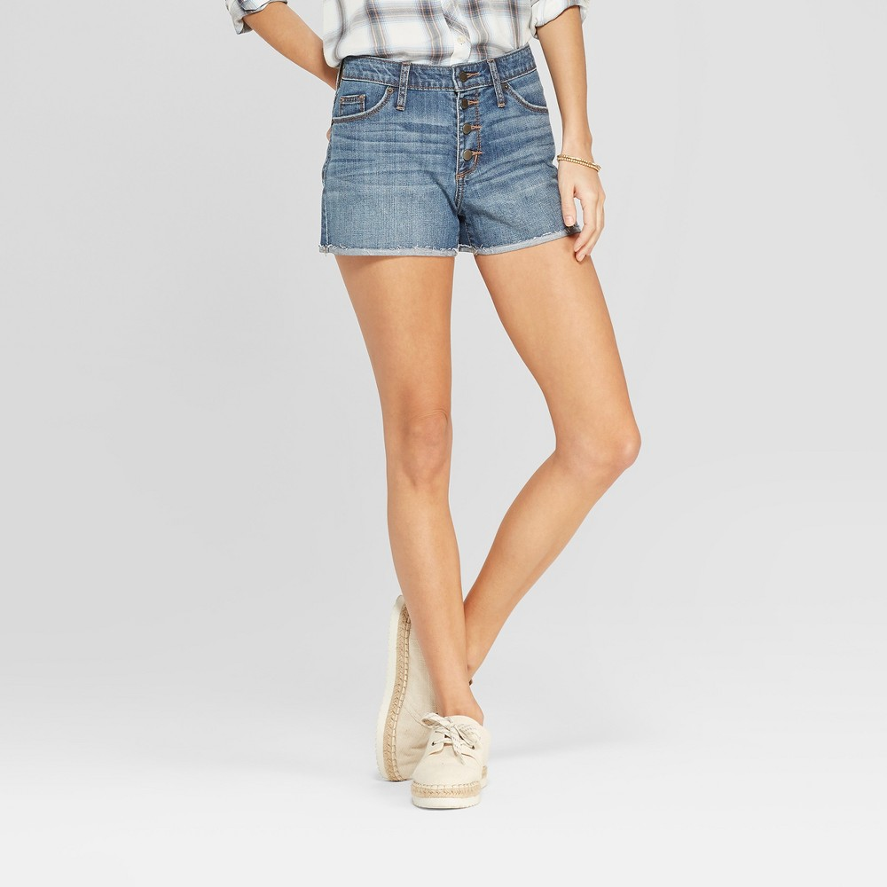 Women's High-Rise Jean Shorts - Universal Thread Medium Wash 2, Blue