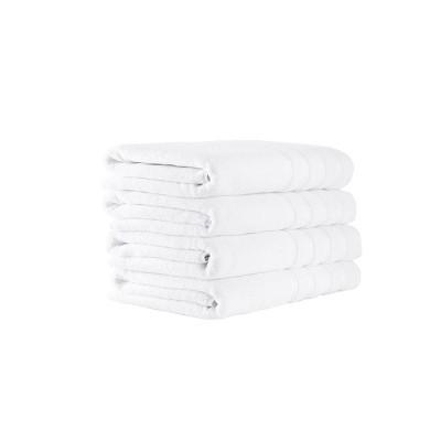 4pc Antalya Turkish Bath Towel Set White - Makroteks