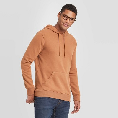 Men's Regular Fit Fleece Pullover Hoodie - Goodfellow & Co™ Brown