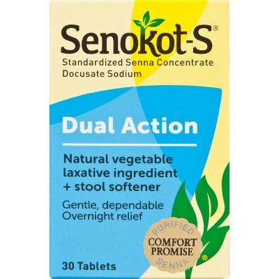 Senokot-S Laxative Plus Softener Tablets 30ct