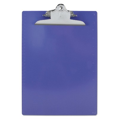 """Saunders Recycled Plastic Clipboards 1"""" Clip Cap 8 1/2 x 12 Sheets Purple 21606"""