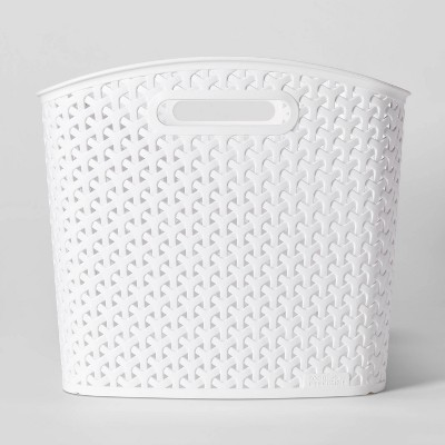 Y-Weave Storage Curved Bin White XL - Room Essentials™