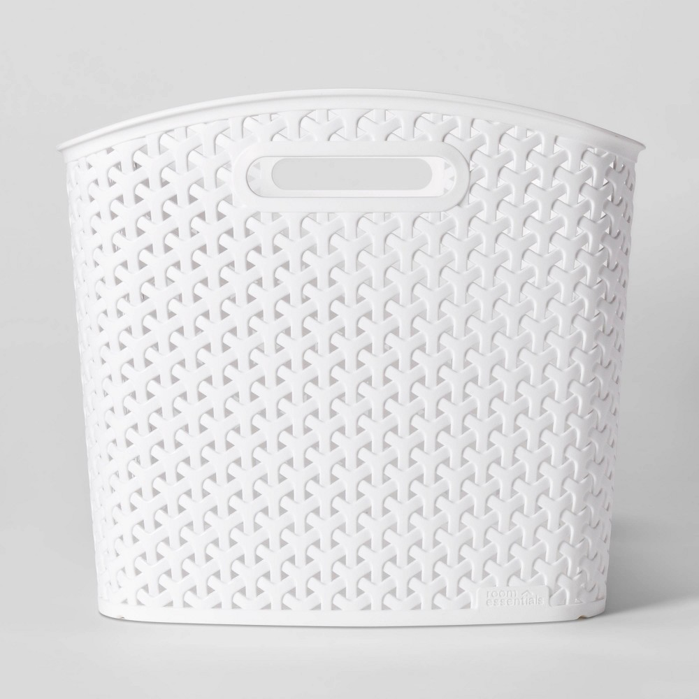 Y Weave Xl Curved Decorative Storage Basket White Room Essentials 8482