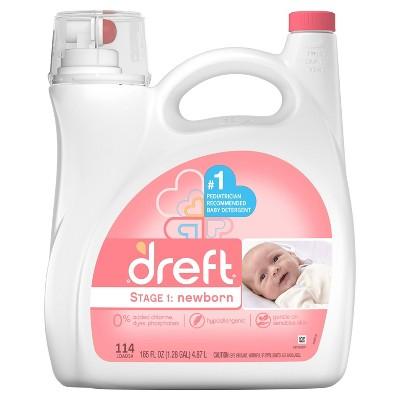 Dreft Stage 1: Newborn Liquid Laundry Detergent - 165 fl oz