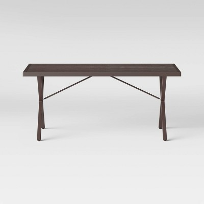 Monroe 6 Person Rectangle Patio Dining Table Brown - Threshold™