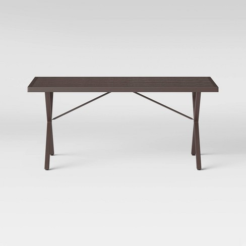 Monroe 6 Person Patio Dining Table Brown - Threshold™ - image 1 of 4