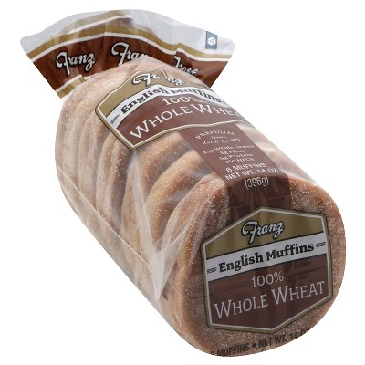 Franz Vegan 100% Whole Wheat English Muffins - 14oz/6ct