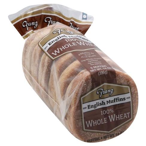 Franz Vegan 100% Whole Wheat English Muffins - 14oz/6ct - image 1 of 4