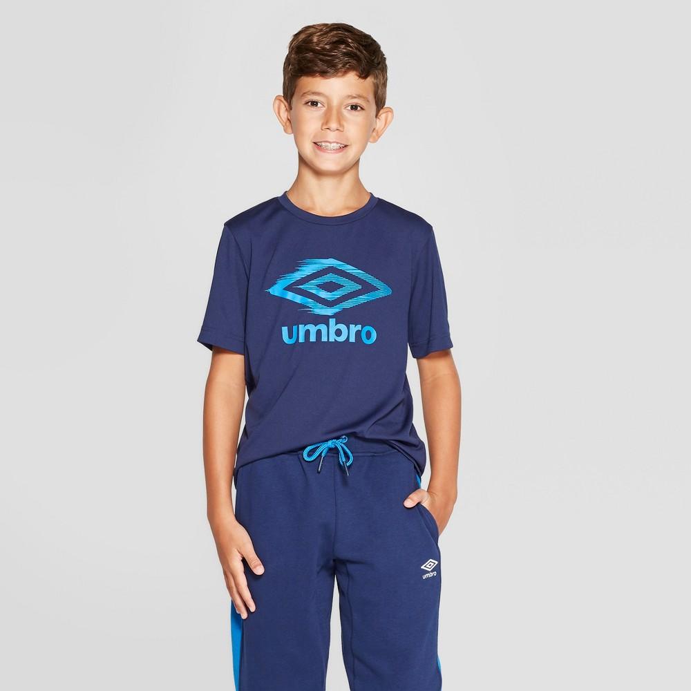 Best Online Umbro Boys Logo Tech T Shirt Electric Navy Blue L Electric BlueNavy Blue