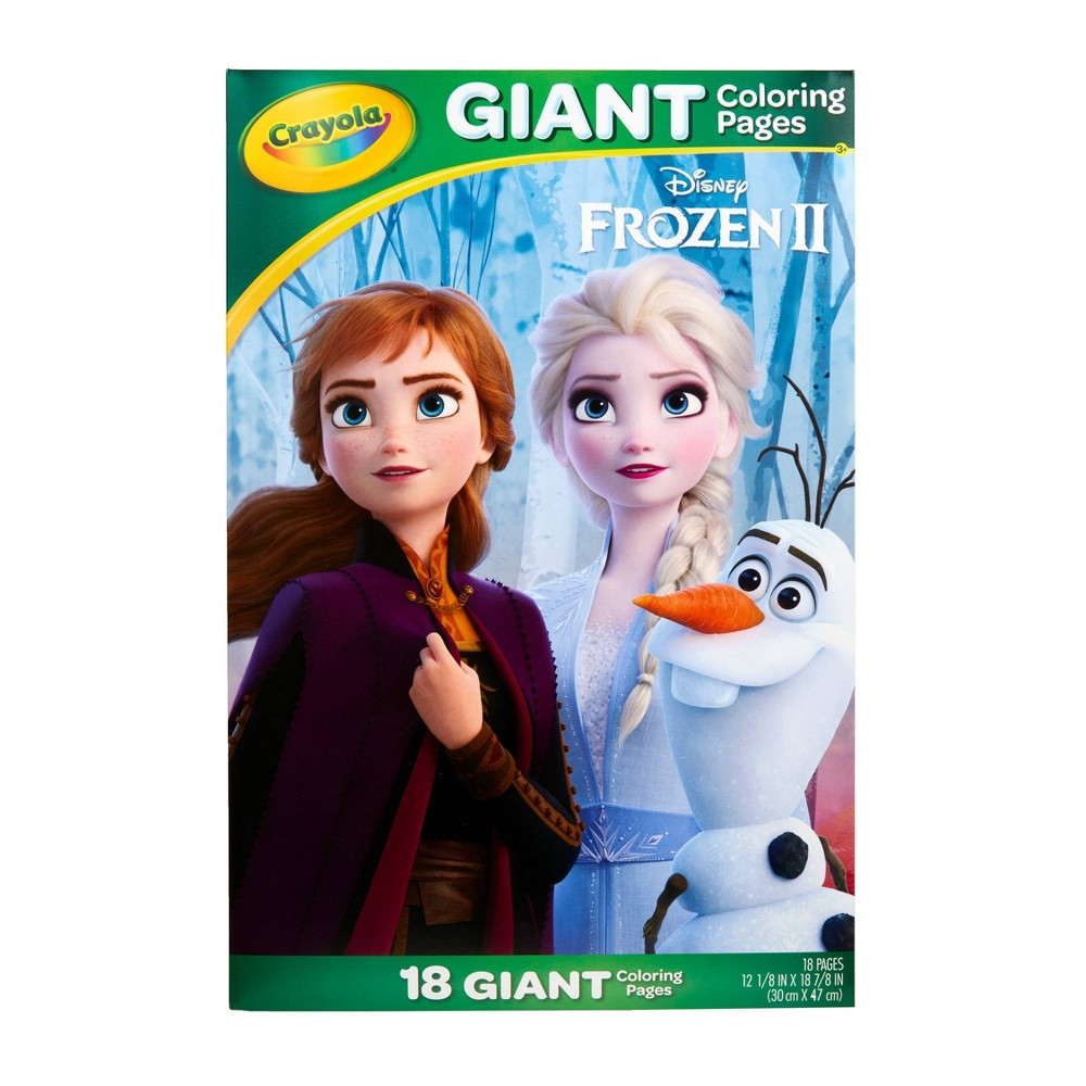 Image of Crayola 18pg Disney Frozen 2 Giant Coloring Pages