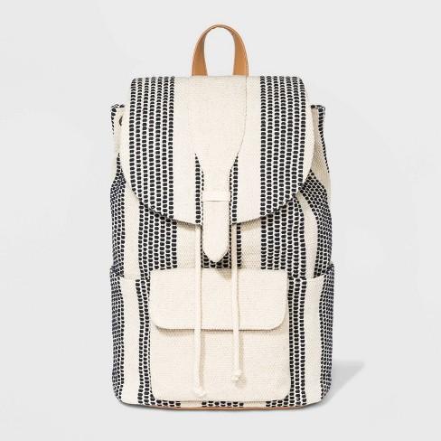 Striped Handloom Flap Backpack - Universal Thread™ - image 1 of 4