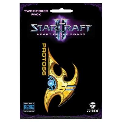 JINX Inc. StarCraft II: Heart of the Swarm Multi-size Sticker 2-Pack: Protoss, Yellow