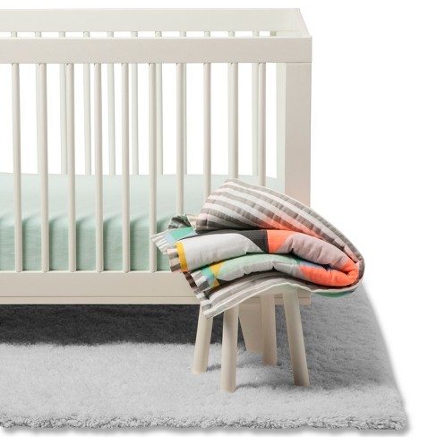 Crib Bedding Set Geo Bright Cloud Island Green