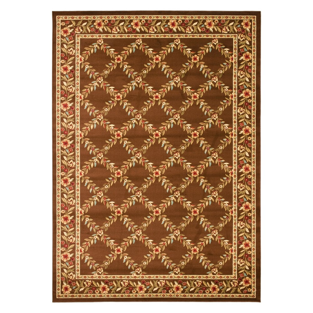 8'X11' Floral Loomed Area Rug Brown - Safavieh