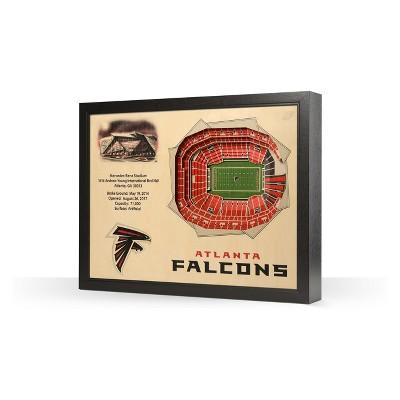 NFL Atlanta Falcons 25 Layer Stadiumviews 3D Wall Art